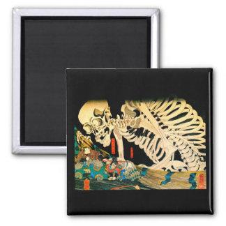 Aimant Squelette appelé par des beaux-arts de Kuniyoshi