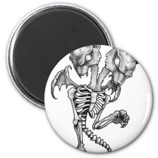 Aimant Squelette de batte de chat