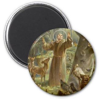 Aimant St Francis d'Assisi prêchant aux animaux