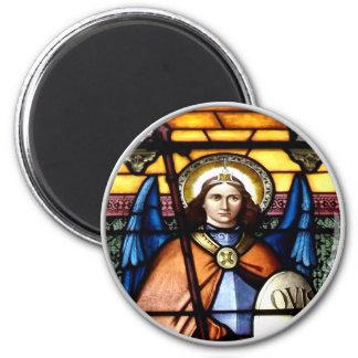 Aimant St Michael la fenêtre en verre teinté d'Arkhangel