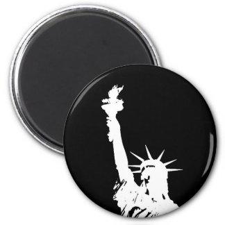 Aimant Statue noire et blanche d'art de bruit de