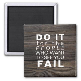 Aimant Succès de motivation inspiré de buts de la