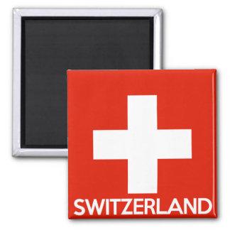 Aimant Suisse des textes de nom de symbole de drapeau de