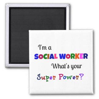 Aimant Super pouvoir d'assistant social
