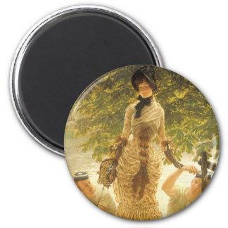Aimant Sur la Tamise par James Tissot, réalisme vintage