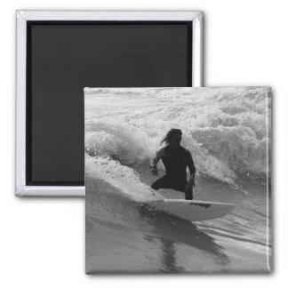 Aimant Surfer la gamme de gris de vagues