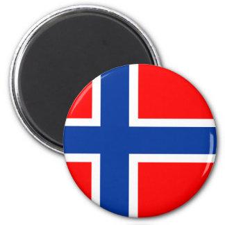 Aimant symbole de nation de drapeau de pays de la Norvège