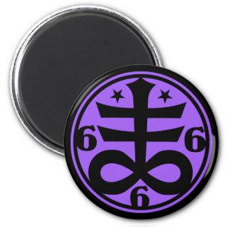 Aimant Symbole occulte croisé satanique de Goth