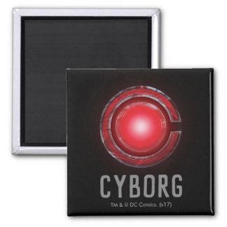 Aimant Symbole rougeoyant de cyborg de la ligue de