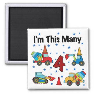 Aimant T-shirts d'anniversaire de véhicules de