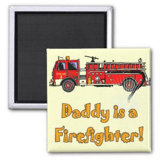 Aimant T-shirts et cadeaux de sapeur-pompier de papa de