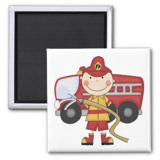 Aimant T-shirts et cadeaux masculins de sapeur-pompier