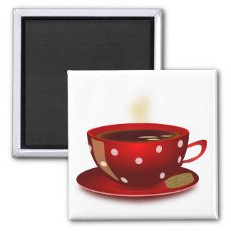 Aimant Tasse de café rouge