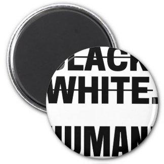 Aimant Tasse humaine blanche noire de sweat - shirt à