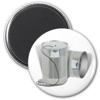Aimant Téléphone de boîte en fer blanc (pouvez vous