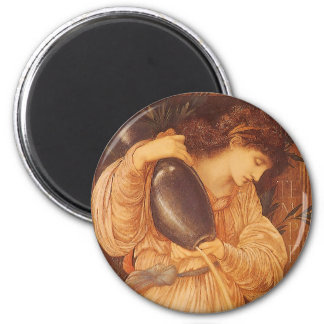Aimant Temperantia par Burne Jones, art victorien vintage