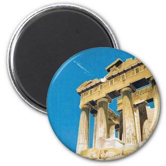 Aimant Temple vintage de parthenon d'Athènes Grèce de