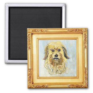 Aimant Tête d'un chien par Claude Monet