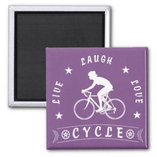 Aimant Texte de Live Laugh Love Cycle de Madame (blanc)