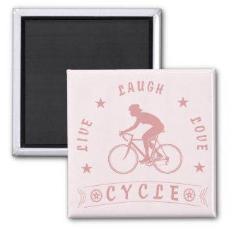 Aimant Texte de Live Laugh Love Cycle de Madame (rose)