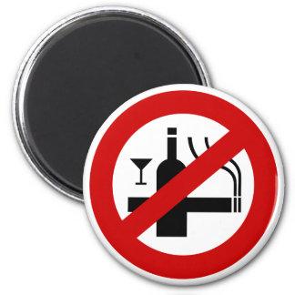 Aimant ⚠ thaïlandais de signe de ⚠ non-fumeurs d'alcool