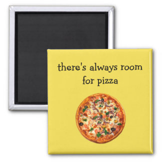 Aimant Thème drôle de pizza