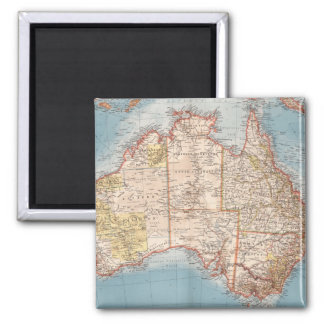 Aimant Topographie australienne Map (1905)