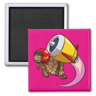 Aimant Tortue de vol de casse-cou avec une bande dessinée