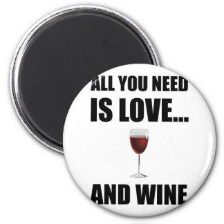 Aimant Tous ont besoin du vin d'amour