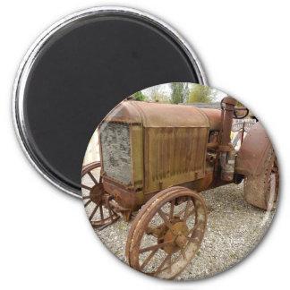 Aimant Tracteur vintage rouillé
