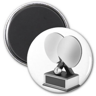 Aimant Trophée argenté de ping-pong