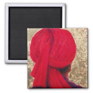 Aimant Turban rouge sur la feuille d'or 2014