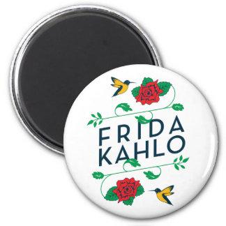 Aimant Typographie florale de Frida Kahlo |