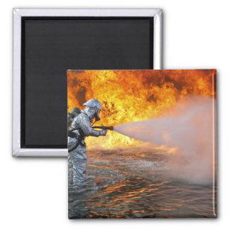 Aimant Une équipe de lutte contre l'incendie de