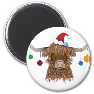 Aimant Vache à Noël