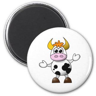 Aimant Vache drôle à bande dessinée