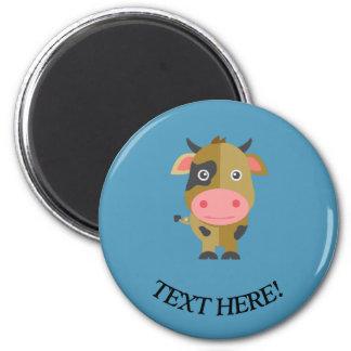Aimant Vache mignonne à bande dessinée