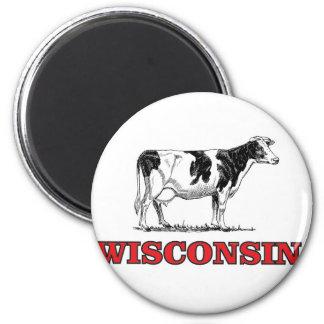 Aimant vache rouge au Wisconsin