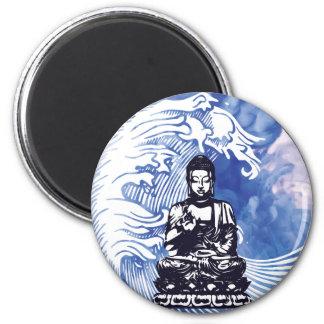 Aimant Vague d'eau profonde de Bouddha