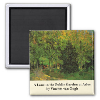 Aimant Van Gogh une ruelle dans le jardin public chez