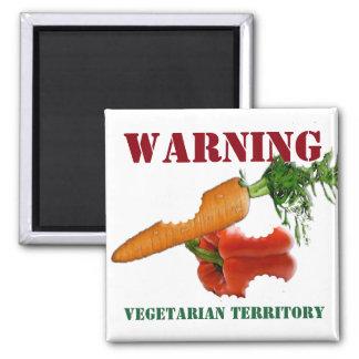 Aimant Végétarien drôle/territoire végétalien