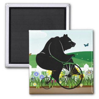 Aimant Vélo de cru d'équitation d'ours
