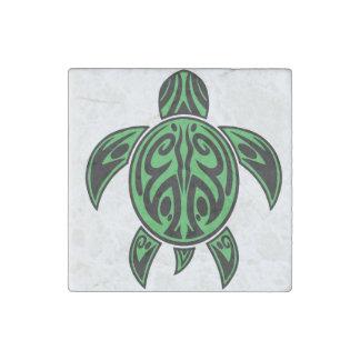 Aimant vert de marbre de tortue de mer de Boho