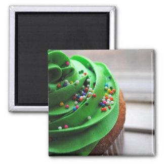 Aimant vert de photographie de petit gâteau