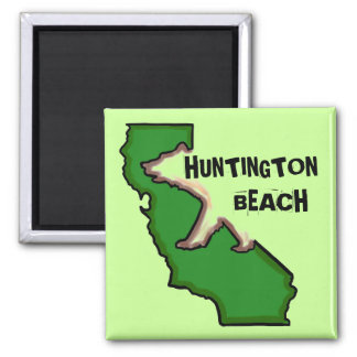 Aimant vert d'état de Huntington Beach la Californ