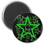 Aimant vert d'étoile