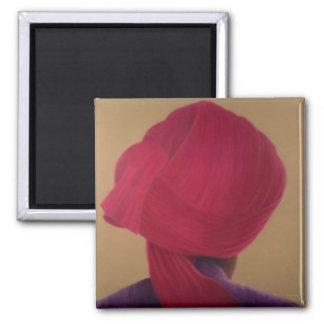 Aimant Veste rouge-foncé de pourpre de turban