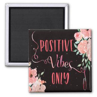 Aimant Vibraphone positif rose floral d'aquarelle