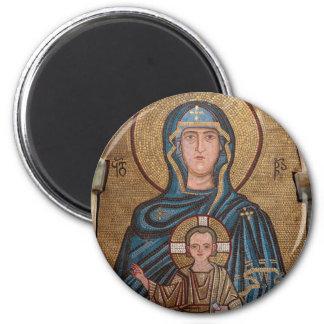 Aimant Vierge Marie et mosaïque de Jésus
