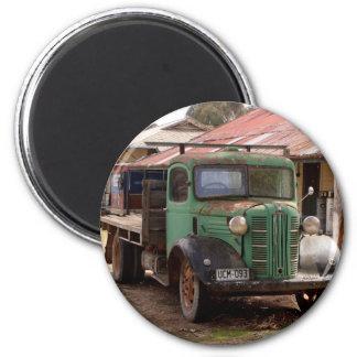Aimant Vieux camion vert